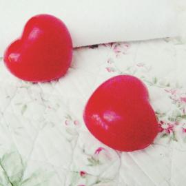 Savon coeur rouge - Lot de 5