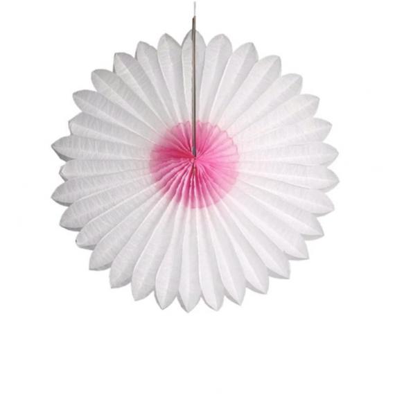 Rosace papier festif pastel