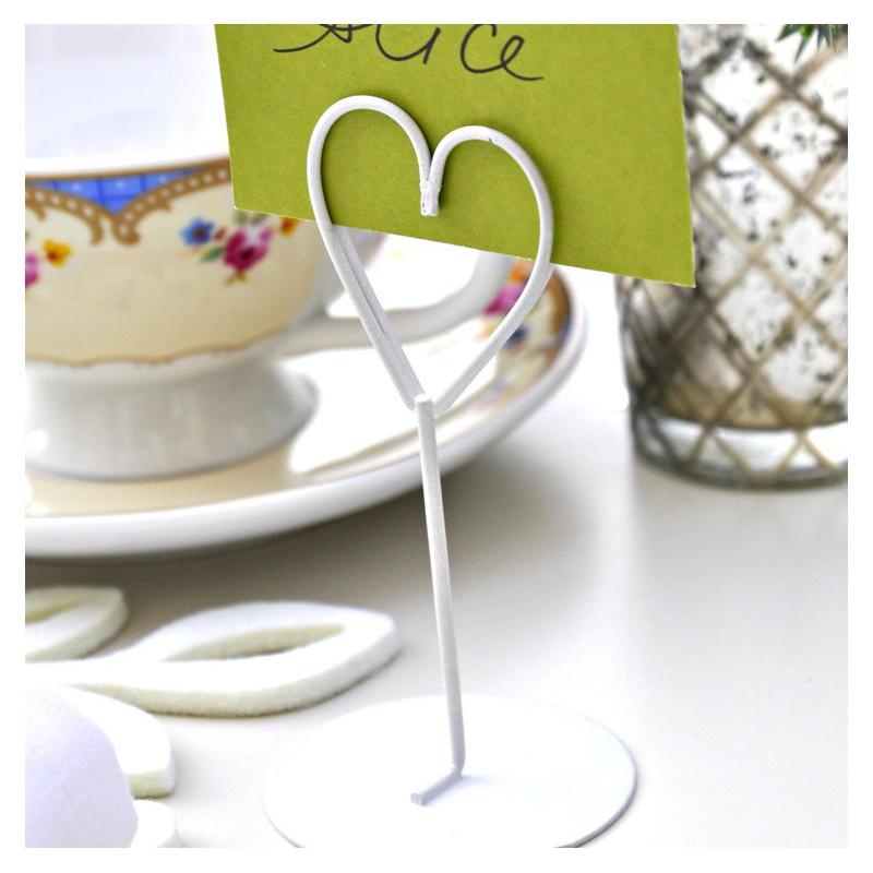 decoration table amoureux marque place coeur m tal blanc. Black Bedroom Furniture Sets. Home Design Ideas