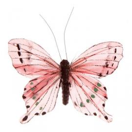 Grand papillon clip roseburd