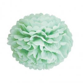 Grand Pompom papier vert - 42 cm