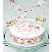 Set décoration gâteaux sweet floral