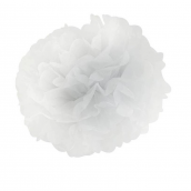 Grand pompom papier blanc
