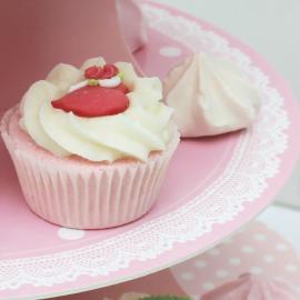 Serviteur cupcake rose 3 plateaux