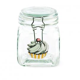 Bocal verre décor cupcake