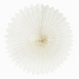 Grande rosace papier blanc - 50 cm