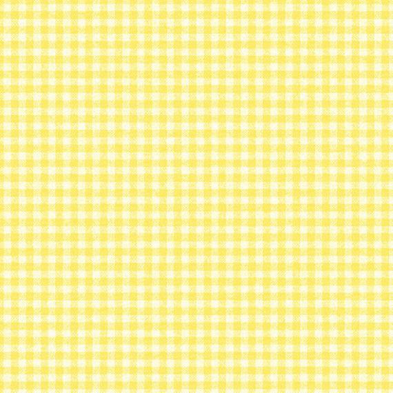 Serviettes papier vichy jaune - Lot de 20