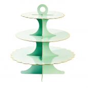 Serviteur Marie-Antoinette vert aqua filet or