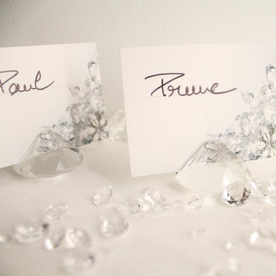 Coffret diamants marque places - Lot de 6 et cartes assorties