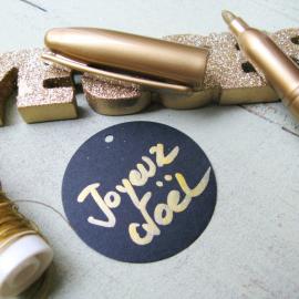 Feutre métallique doré - Sachet individuel