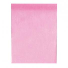 Chemin de table intissé rose - 1 rouleau de 10 mètres