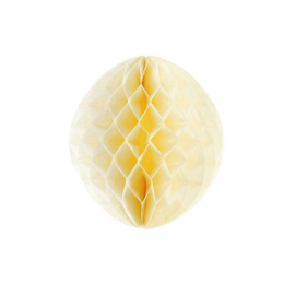 Boule papier jaune - 25 cm