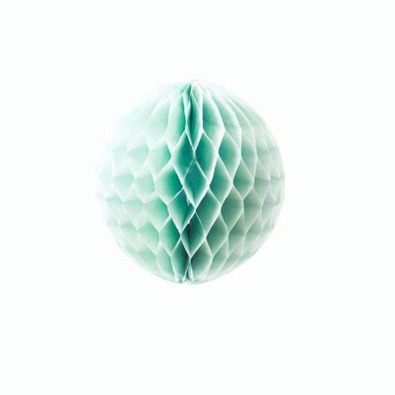 Boule papier vert - 25 cm