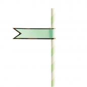 Stickers pailles drapeaux vert