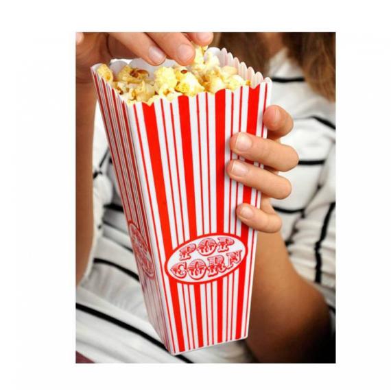 Cornets popcorn plastique - Lot de 2 cornets