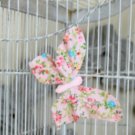 Papillon clip summer liberty pink