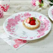 Assiettes romantiques roses
