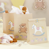 Sac papier baby nursery et stickers