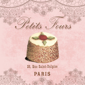 Serviettes cocktail petits fours parisiens - Lot de 20