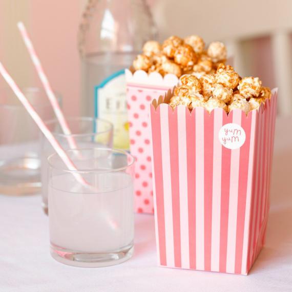 8 cornets popcorn et bonbons - 2 designs