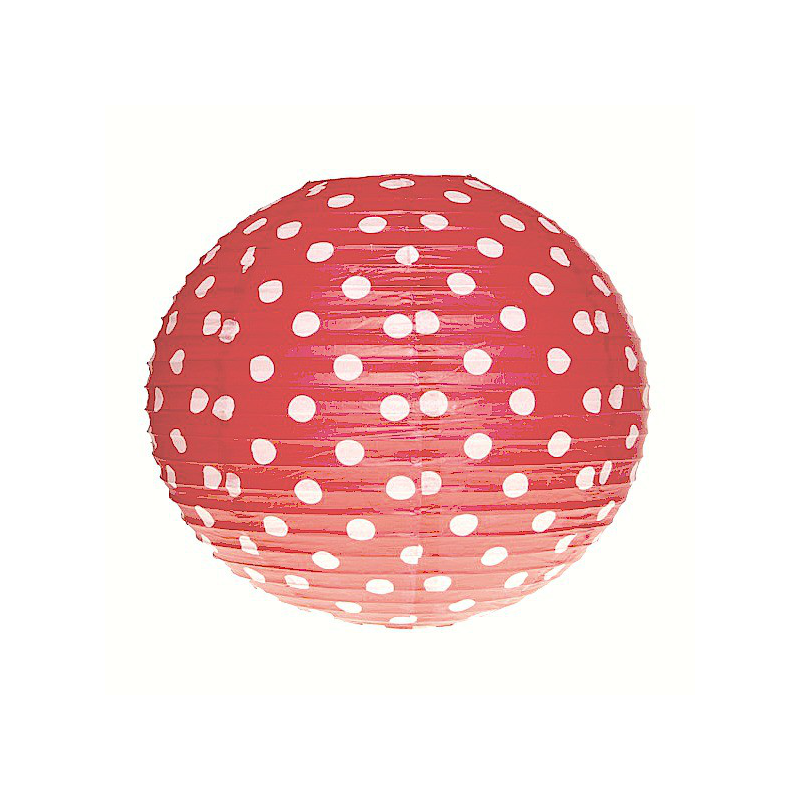 decoration de salle lanterne papier rouge pois. Black Bedroom Furniture Sets. Home Design Ideas