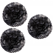 Grands pompoms noirs