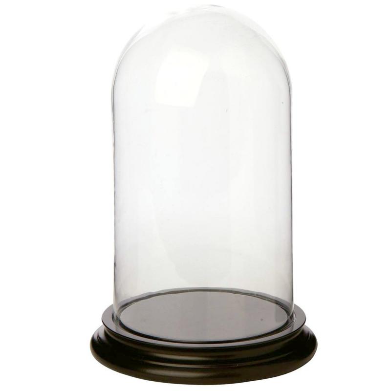 decoration buffet globe verre socle bois. Black Bedroom Furniture Sets. Home Design Ideas