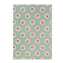 feuille sticker tissu liberty floral green