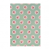 feuille sticker tissu liberty floral green