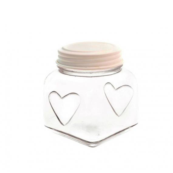 Bonbonnière décor coeur top cream