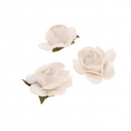 Fleurettes blanches - Lot de 40