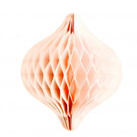 Décoration toupie papier rose pêche