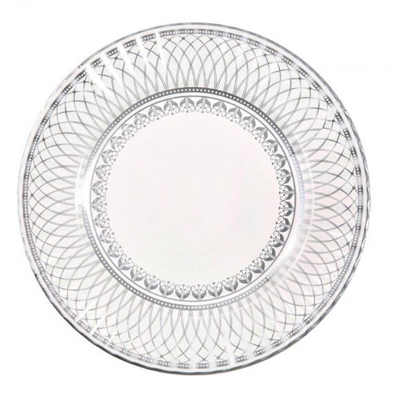 Grandes assiettes Gala silver