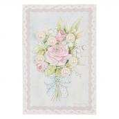 Boutons perles fleurs - Lot de 6