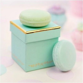 Coffret duo savon macaron mint & Tiffani blue