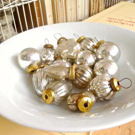 Décorations noël vintage mercurisées