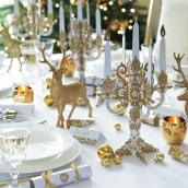 Candélabre jolie table gold