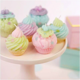 Assortiment bougies cupcake pastel - Lot de 4