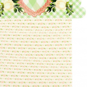 Ruban brodé fleurettes finition croquet