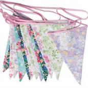 Guirlande tissu de fanions english patch floral