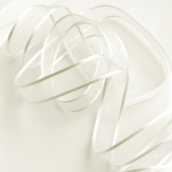 Ruban organdi bord satin blanc - 20 mètres.