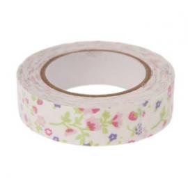 Ruban masking tape tissu floral - 5 mètres