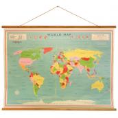 Carte du monde vintage