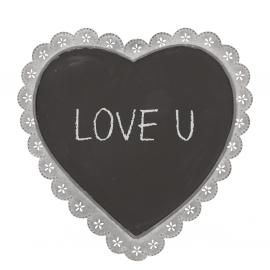 Coeur zinc tableau noir