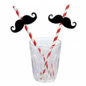 Pailles jolies moustaches - Lot de 12