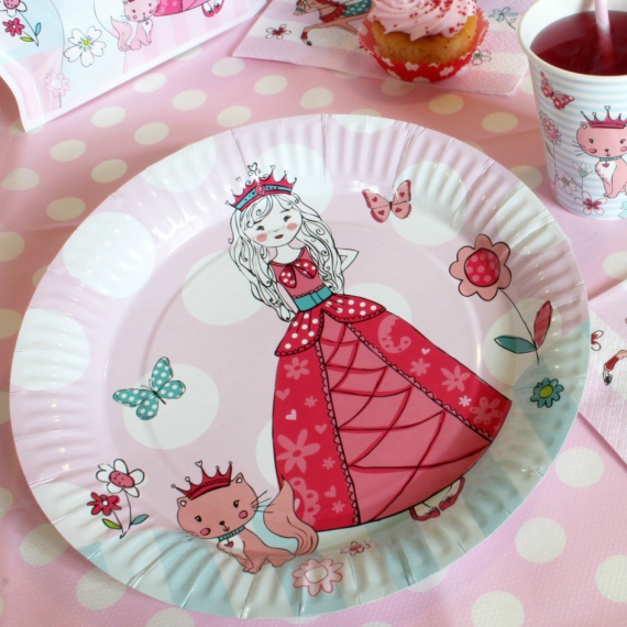 Assiettes la princesse et le chat