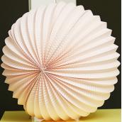 Lanterne papier ronde rose - 30 cm