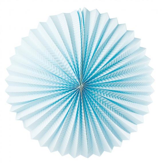 Lanterne papier ronde bleue - 30 cm