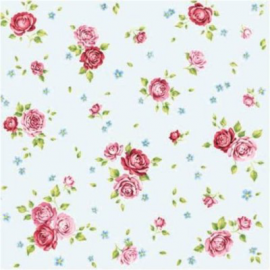 Serviettes papier rosalie blue - Lot de 20