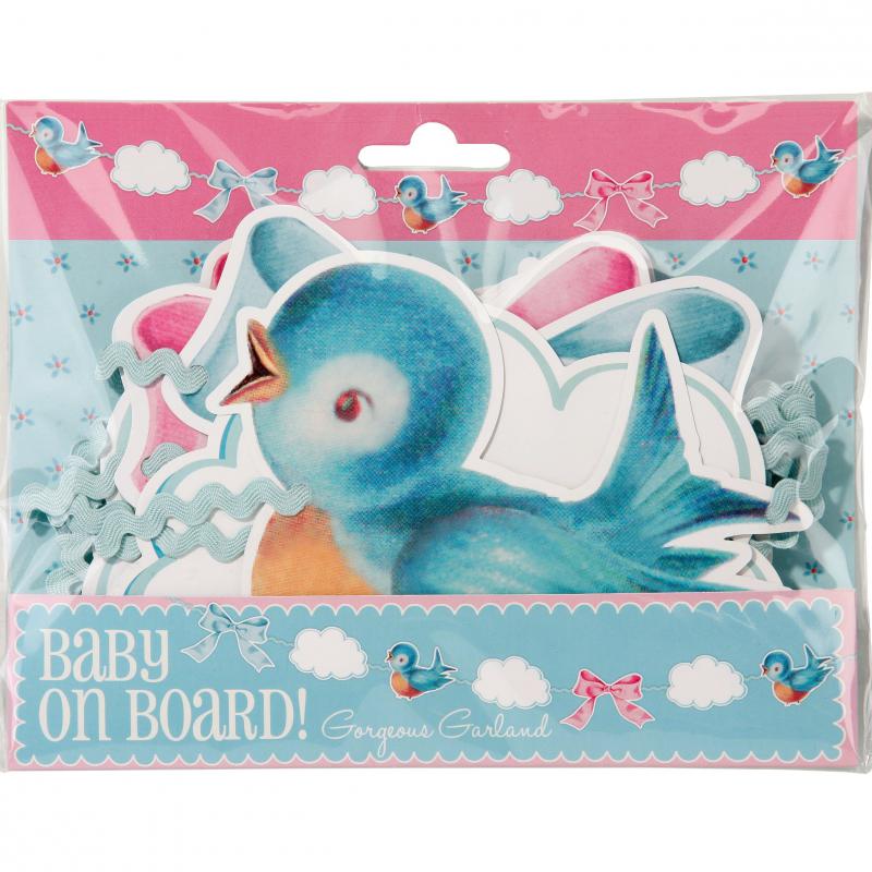 Decoration baby shower guirlande baby shower birdy pastel - Guirlande baby shower ...